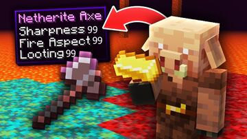 Minecraft But Piglins Trade Super OP Items Minecraft Data Pack