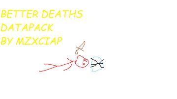 Better Deaths Minecraft Data Pack