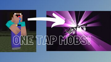 Minecraft, but you one tap mobs! Minecraft Data Pack