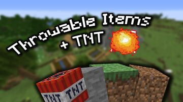 Minecraft but you throw items / Throwable Items + TNT/Spawneggs / Minecraft but ??? submission Minecraft Data Pack