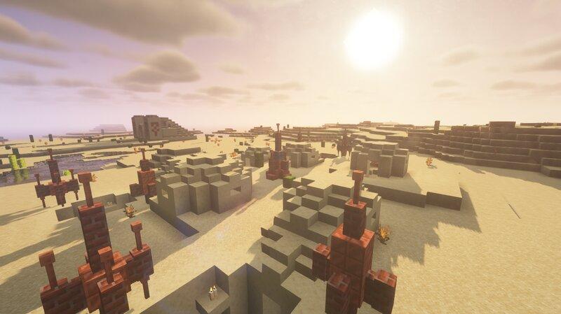 Alternative desert village, appearing in desert hills