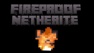 Fireproof Netherite Minecraft Data Pack