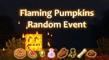 Flaming Pumpkins Random Event! v1.0 Minecraft Data Pack