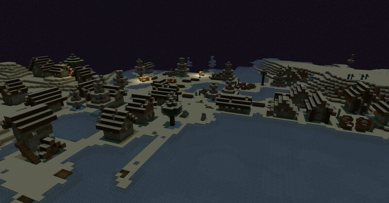 Even villages are completely frozen.