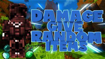 Damage Give Random Items Minecraft Data Pack