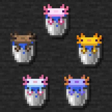 Coloured Axolotl Bucket Minecraft Data Pack