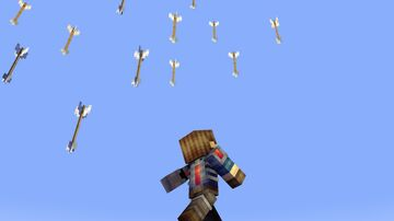 Minecraft But Arrows Rain from the Sky Minecraft Data Pack
