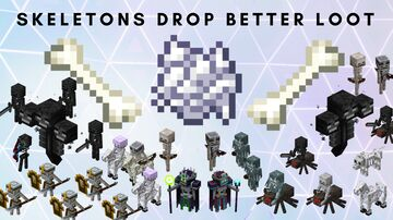 Skeletons Drop Better Loot! Minecraft Data Pack