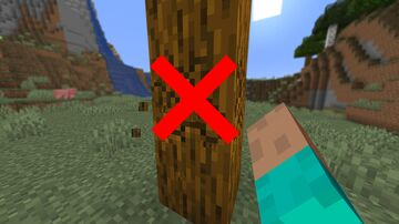 Minecraft But You Can't Break Logs Minecraft Data Pack