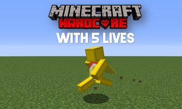 Hardcore with 5 Lives 1.17 Minecraft Data Pack