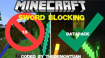 Minecraft, But Sword Blocking Added Again... Minecraft Data Pack
