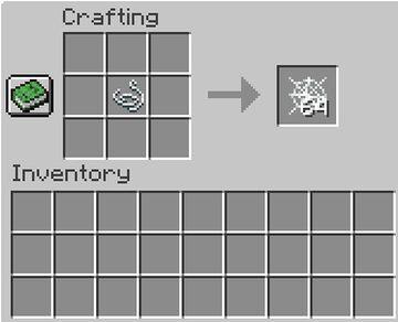 Craftable Cobwebs Minecraft Data Pack