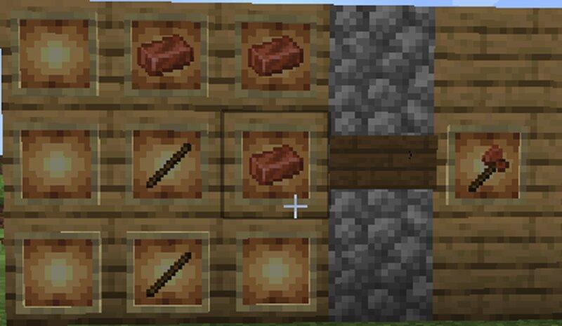 Copper axe crafting recipie