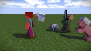 Hostile passive mobs Minecraft Data Pack