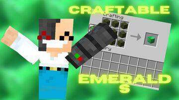 Craftable Emeralds Minecraft Data Pack