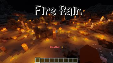 Fire Rain Minecraft Data Pack