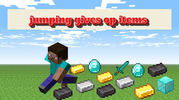 Jumping Gives OP Items Minecraft Data Pack