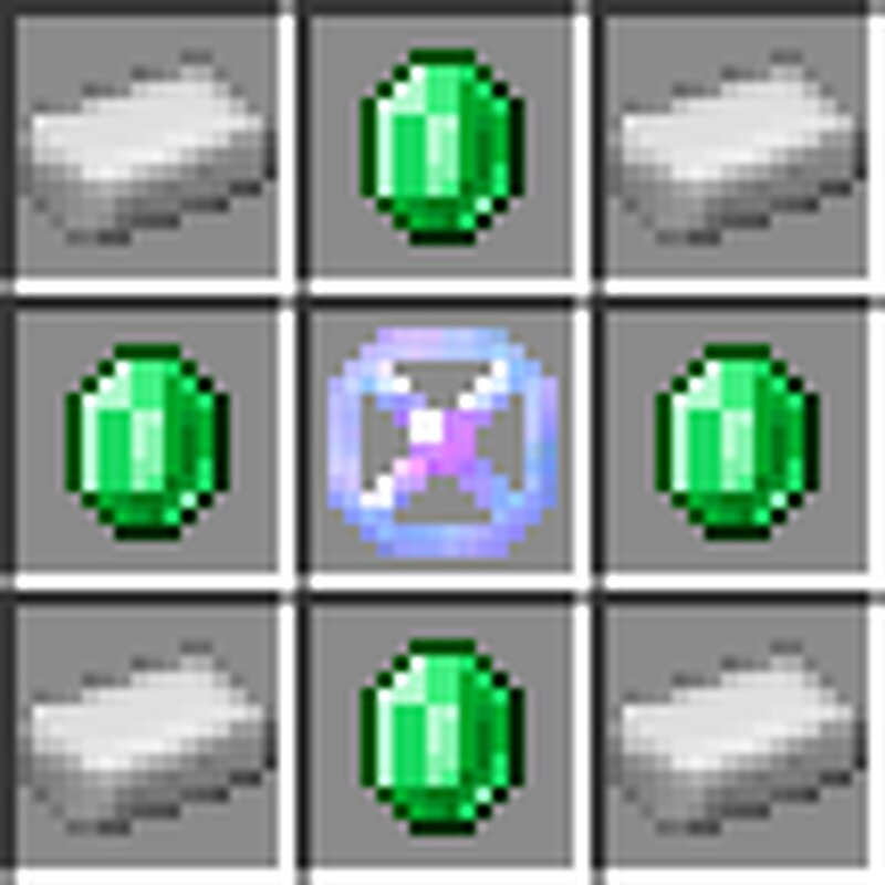 Emerald synthesizer crafting recipe