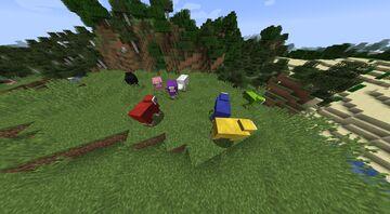 Coloured Sheep Spawning Datapack Minecraft Data Pack