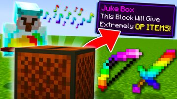 Minecraft, But Playing Music Gives OP Items... Minecraft Data Pack