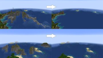Open Oceans add-on for William Wythers' Overhauled Overworld 1.17 Minecraft Data Pack