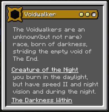 Origins Mod: VOIDWALKER - Custom Datapack Minecraft Data Pack