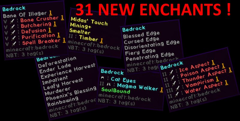 All New Enchants - don't mind the bedrock, it's just for the screenshots