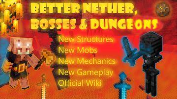 Better Nether, Bosses & Dungeons v5.1 (Optifine 1.16.3 - 1.16.5) Minecraft Data Pack