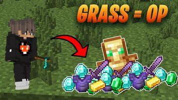 Minecraft but grass drops OP LOOT   Aquilix Minecraft Data Pack