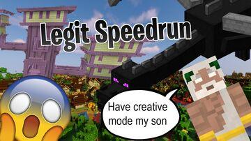 A totally legit speed run... Minecraft Data Pack