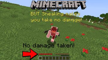 Minecraft But... Sneaking makes you take no damage! Minecraft Data Pack