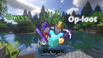 Grass drops op-loot Minecraft Data Pack
