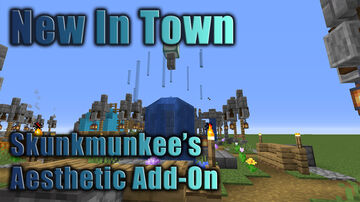 Skunkmunkee's Aesthetics Add-On for New In Town Minecraft Data Pack