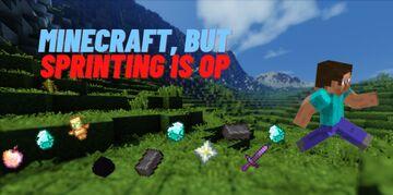 Minecraft but Sprinting is OP!! Minecraft Data Pack