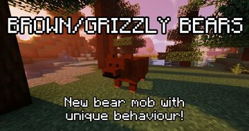 Brown / Grizzly Bears (Datapack + Texture Pack) [1.16] Minecraft Data Pack
