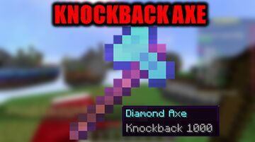 Minecraft But You Can Craft A Knockback 1000 Axe Minecraft Data Pack