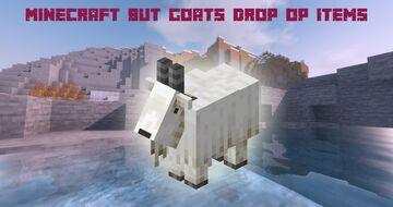 Minecraft But Goats Drop OP Items Minecraft Data Pack
