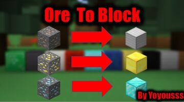 Ores Drop Blocks(Just Break The Ore) Minecraft Data Pack