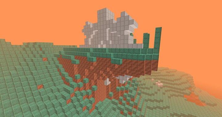 Random solid iron cog structures