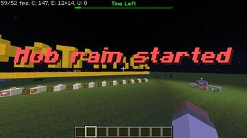 Minecraft but Mob Rain every 30 seconds Minecraft Data Pack