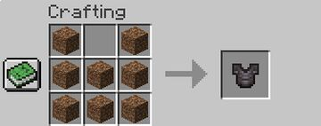 Dirt --> Netherite Items Minecraft Data Pack
