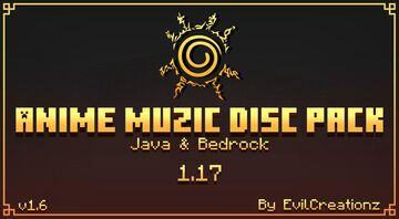 Anime Muzic Disc Pack v1.6 (Java & Bedrock) Minecraft Data Pack