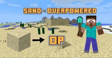 Minecraft, But Sand Drops OP Stuff Minecraft Data Pack