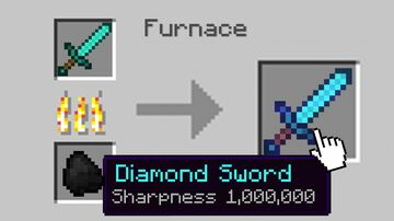 Minecraft, But Smelting Enchants 1,000,000... Minecraft Data Pack