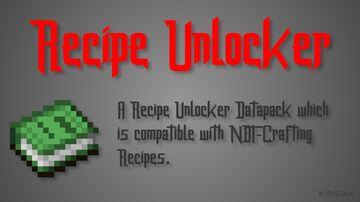 Recipe Unlocker (NBT-Crafting compatible) Minecraft Data Pack