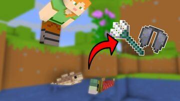 Minecraft but Fish drop op loot Minecraft Data Pack
