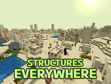 Minecraft but Structures is Everywhere!   CrazyStructures Minecraft Data Pack