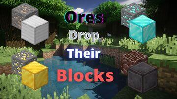 Ore drops op-loot Minecraft Data Pack