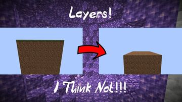 Minecraft, but layers disappear. Minecraft Data Pack