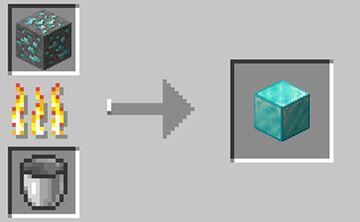 Ores smelt into Blocks Minecraft Data Pack